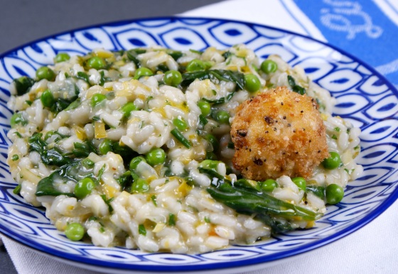 Risotto Primavera, Goats Cheese
